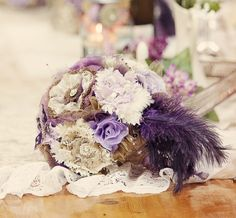 Fabric Wedding Bouquet Wedding Fabric Bouquet by thewistfulwillow