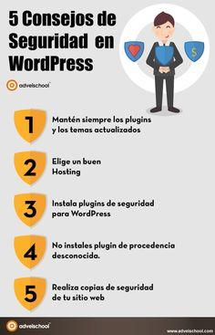 5 importantes consejos de seguridad en WordPress que te ayudarán a proteger tu sitio de personas malintencionadas y a evitar potenciales peligros.