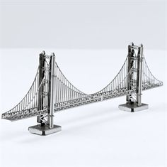 Metal Earth Laser Cut Models are becoming a hot item to collect. We offer many designs to choose from, including Popular Landmarks, Military Aviation, Bug Collection . Metal Earth Models, Metal Models, Puente Golden Gate, Bridge Model, Best Gifts For Tweens, Earth 3d, Metal Model Kits, Metal Puzzles, Tween Girl Gifts