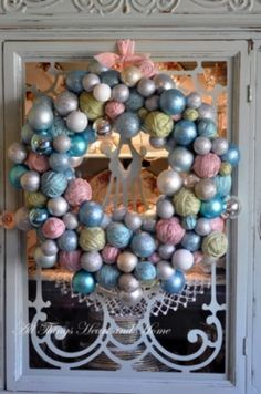 Beautiful Pastel Colors Used for This Wreath