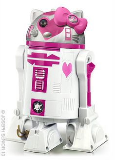 R2D2 + Hello Kitty = H2K2  i really don't know how to describe this other than to say I really, really want one.