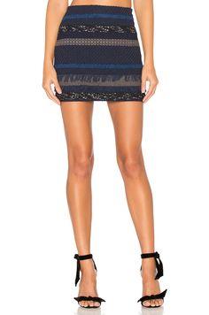 Alice + Olivia Elana Mini Skirt in Blue Multi | REVOLVE