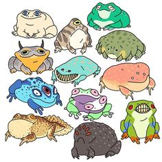 Mutant Frogs are beautiful too Pretty Art, Cute Art, Cute Drawings, Animal Drawings, Art Hippie, Frog Drawing, Art Mignon, Arte Sketchbook, Frog Art