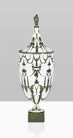 GIO PONTI (1891-1979) | AN URN WITH GROTESQUE DECORATIONS, DESIGNED 1925