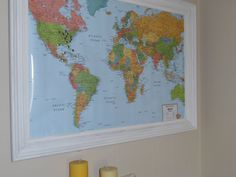 Travel Map. Travel Push Pin Map. Traveling. Home Decor. World Travel. Framed Boards. Modern Decor. Framed Maps. Framed World Maps by AdrianandLeo on Etsy