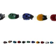 Bead Gallery Ladybug Glass Beads, Multicolor