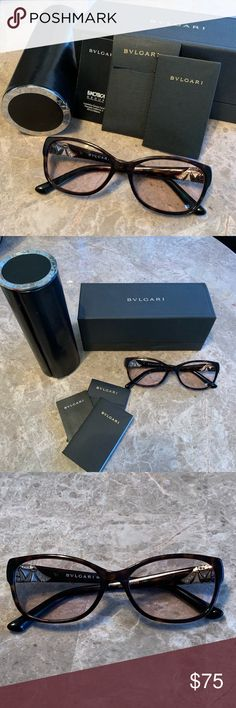 97e9490c2ba 👓Authentic BVLGARI Frames (Not Readers)👀 100% authentic BVLGARI Dark  Havana glasses