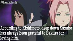 despite not responding to sakuras feelings until the end of the series, sasuke always had deep feelings for Sakura, which grew stronger once his hatred and desire for revenge faded away. SASUSAKU