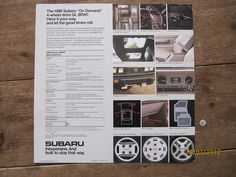 American Subaru BRAT brochure from 1986 page 4 | by Sholing Uteman