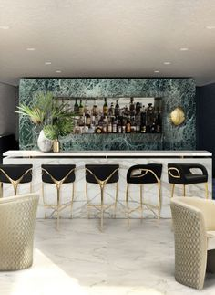 Bar Design | CHANDRA Bar Stools by @Koket. Hospitality Furniture. Modern Chairs. #modernchairs #barstools #chairdesign Find more at: https://www.bykoket.com/guilty-pleasures/upholstery/chandra-bar-stool.php