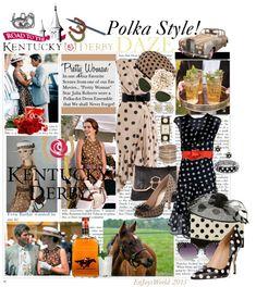 """KENTUCKY DERBY DAZE: ""Pretty Woman"" - Polka Style!!!"" by enjoyzworld ❤ liked on Polyvore"