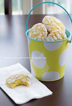 Beyond Kimchee: Lemon Coconut Crackle Cookies, thing 1 and thing 2