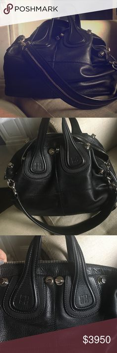 Large Givenchy Studded Nightingale bag. RARE. An absolute stunner of a bag. This is my daily carry bag. Sturdy and gorgeous with lots of room, heavy nickel hardware, tote/forearm handles an a removable shoulder strap. Pure goodness. Givenchy Bags Satchels