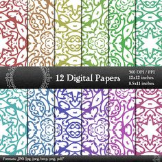 scrapbook papers LS-000125 pages digital paper digital scrapbook paper pack scrapbooking digital background scrapbooking paper 12x12 8.5 in