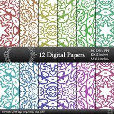 scrapbook papers LS-000125 pages digital paper digital scrapbook paper pack scrapbooking digital background scrapbooking paper 12x12 8.5 in