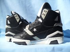 Vintage 1989 Converse ERX 350 Hi Magic Johnson Energy Wave DS RARE L K | eBay Basketball Sneakers, Nba Basketball, Sneakers Nike, Trainer Shoes, Shoe Designs, Magic Johnson, Basketball Legends, Vintage Stuff, Shoe Game