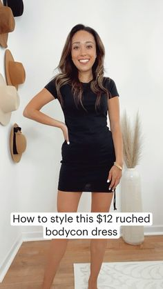 Casual Black Dress Outfit, Black Bodycon Dress Outfit, Black Summer Outfits, Simple Black Dress, Summer Dress Outfits, Girls Night Out Outfits, Classy Outfits, Casual Outfits, Fashion Outfits