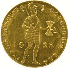 Nederland - Dukaat 1928 Wilhelmina - goud
