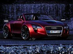 Fond d'écran avec un rapide exécutif voiture honorable Audi TT