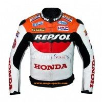 Honda Repsol Team Racer , Rider Leather Jacket