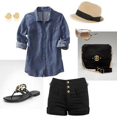 Cute! W/ high waisted shorts you can tuck the shirt in