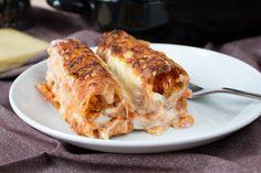 Ein italienischer Klassiker als Kombi-Rezept mit & ohne Fleisch: Cannelloni vegetarisch mit roten Linsen oder mit Faschiertem.