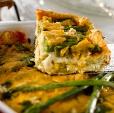 A new brunch favorite! Perfect for anytime the family gets together! Make entertaining easy with this asparagus & cheese strata. Make ahead and bake off in the morning for a delicious weekend brunch --> OhioEggs.com