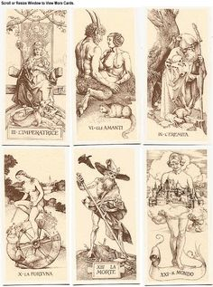 Tarot de Durer Absolutely the most visually striking tarot deck since Crowley's Hermetic decks. Arte Horror, Horror Art, Fantasy Kunst, Fantasy Art, 4 Image, Albrecht Dürer, Illustrations, Illustration Art, Arte Obscura