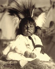 Sioux Child– Frank Fiske photo; True West archives –