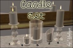 Candle set | My Sims 2 Clutter Spot
