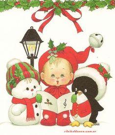 Cute little Christmas Carolers Christmas Clipart, Vintage Christmas Cards, Christmas Carol, Christmas Printables, Christmas Pictures, Vintage Cards, All Things Christmas, Christmas Time, Christmas Crafts