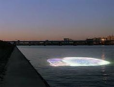led lights on water