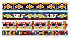 Ndebele African Border Pattern Art by Razorxt, via Dreamstime