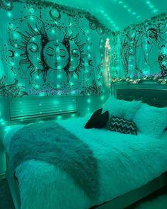 Indie Room Decor, Cute Bedroom Decor, Room Design Bedroom, Teen Room Decor, Room Ideas Bedroom, Hippie Bedroom Decor, Bedroom Inspo, Chill Room, Cozy Room