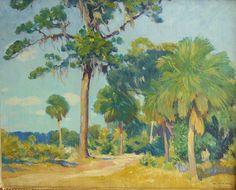 William Chadwick (American, 1879-1962), Florida scene, oil on canvas, 24 x 30 inches.