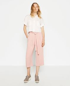 Pink CULOTTES from Zara