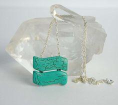 Handmade Turquoise Pendant Natural Stone Vintage by BoutiqueGem