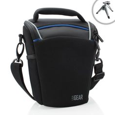 Top Loading Travel DSLR Camera Case Bag with Adjustable Dividers by USA Gear  Works With Nikon D7200  D810A  D5500 and More Nikon Digital Cameras *** Check this awesome product by going to the link at the image.