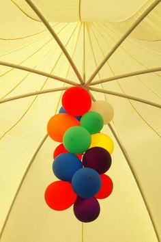 Birthday party tent / marquee chandelier