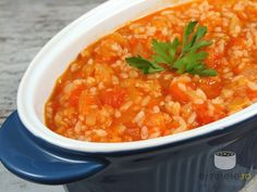 Vegetable rice husk (paprika and rice) - World Cuisine Raw Vegan Recipes, Vegetarian Recipes, Romanian Food, Romanian Recipes, Vegetable Rice, Quick Easy Meals, Food Videos, Breakfast Recipes, Food Porn