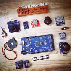 Arduino Mega and some components for a future project! #Arduino #arduinomega #weekendproject #4hackrr #followme
