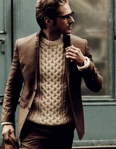 Bulky sweater under blazer - working!