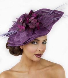 purple ascot hat
