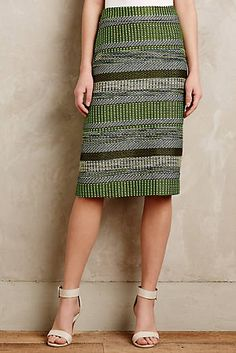Striped Jade Skirt