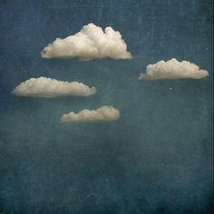 Blue sky + Fluffy clouds