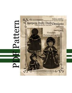 PDF PATTERN Victorian Christmas Caroler An by KeepersDollyDuds, $9.95