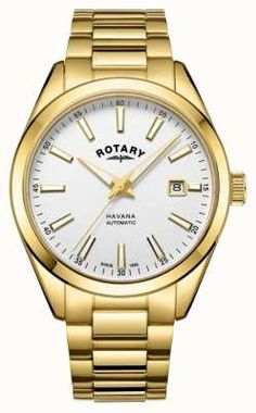 Havana offers a highly desirable collection of gents automatic watches, delivering a classic, sleek, elementary design representative of Rotary. Mens Watches Online, Watches For Men, Rotary Watches, Automatic Watch, Stainless Steel Watch, Havana, Gold Watch, Valentine Day Gifts, Man Shop