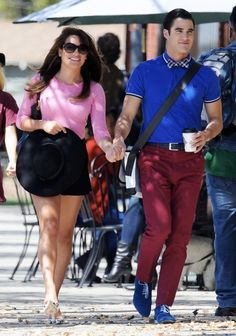 Darren and Lea at the set of Glee today.  Seriously, look how cute they are.