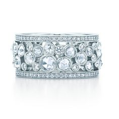Platinum Band with Diamonds by Tiffany and Co : Rings Gallery