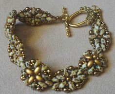 Another super duo bracelet (beadwork by Nancy Couste')
